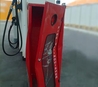 Broken Extinguisher cabinet