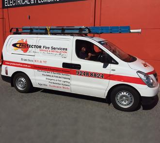 Extinguisher service vehicle