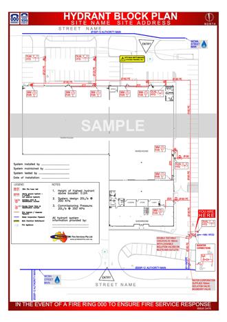 Fire Hydrant Block Plan